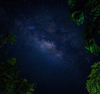 Milky Way Galaxy as seen in Miag-ao in April (modified from photo by Norman Posecion).