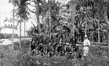 American soldiers in Panay, 1899.