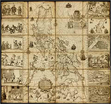 Map Philippines 300 years ago