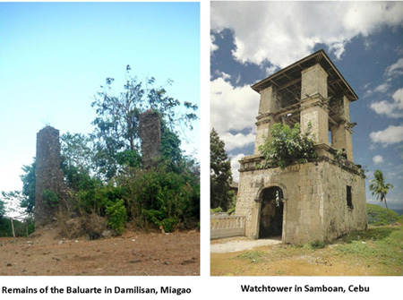 The Baluarte of Damilisan was destroyed by earthquakes. Interview of elders who remembered the watchtower before it was toppled show that it was a two story tower with a roof similar to the watchtower in Samboan. Read more in the notes section at the end of this blog.
