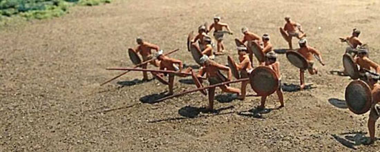Tausug warriors on the beach. From the diorama in Sulu Garden Art Gallery. Photo by Doods Moragas.