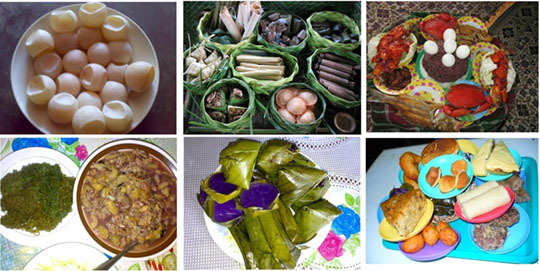 Tausug cuisines typically served during feasts. Photos courtesy of Maya Samain.